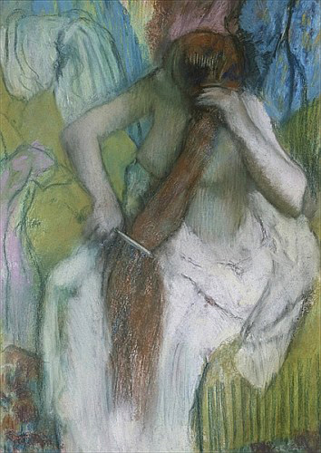 Edgar Degas - Woman Combing her Hair