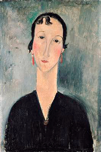 Amadeo Modigliani - Woman with Earrings