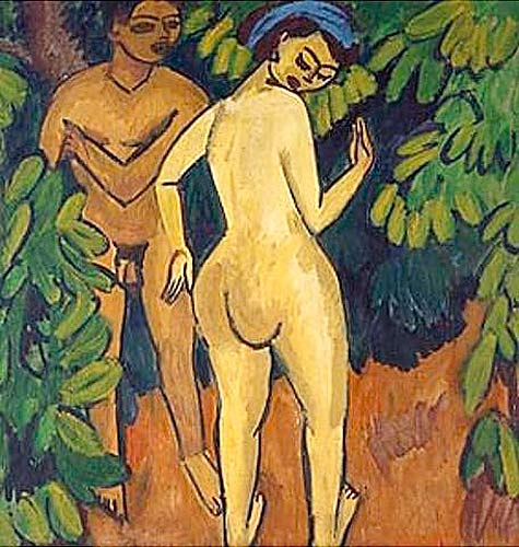 Ernst Ludwig Kirchner - Adam and Eve