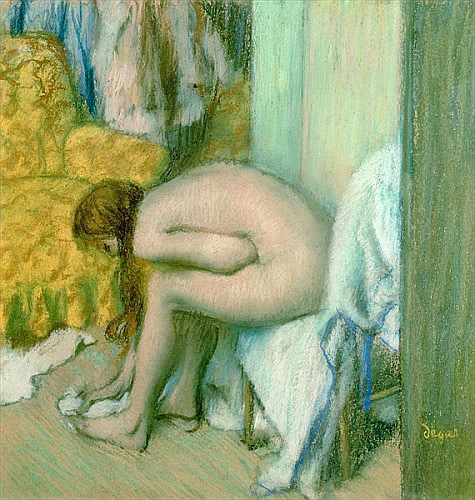Edgar Degas - After the Bath, Woman Drying her Left Foot