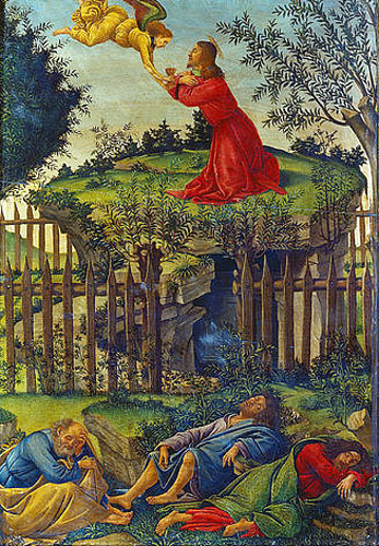 Sandro Botticelli - Agony in the Garden