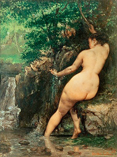 Gustave Courbet - Bather at the Source