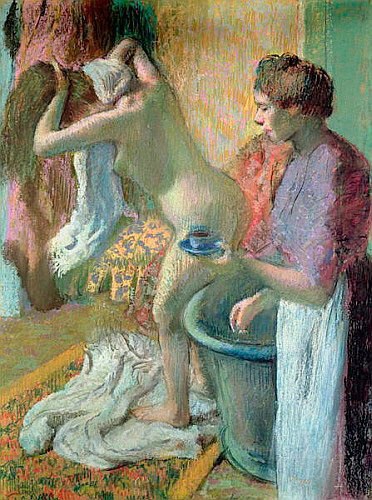 Edgar Degas - Breakfast after a bath