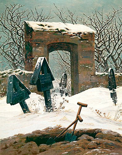 Caspar David Friedrich - Cemetery in the Snow