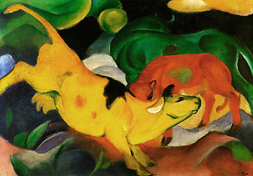 Franz Marc - Cows yellow-red-green
