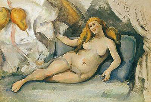 Paul Cézanne - Female Nude on a Sofa