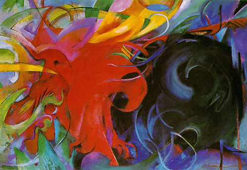 Franz Marc - Fighting shapes