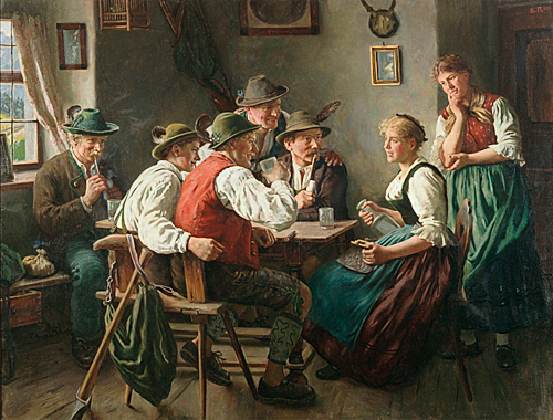 Emil Rau - Flirt in farmers sitting room
