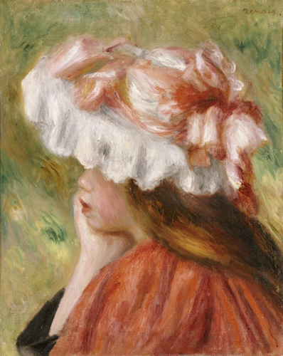 Pierre-Auguste Renoir - Head of a Young Girl in a Red Hat