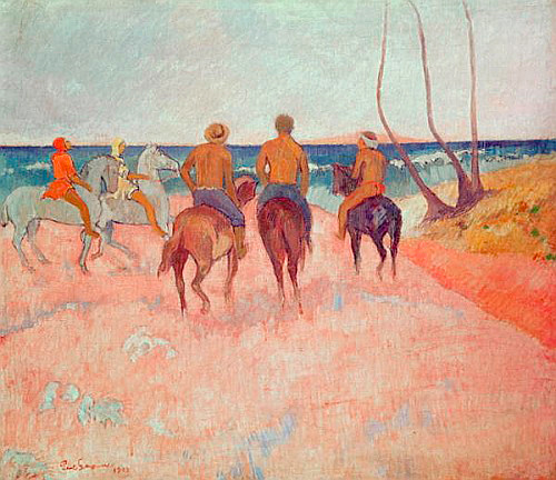 Paul Gauguin - Horseman on the Beach