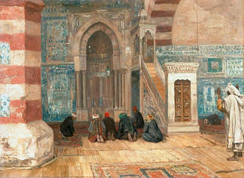 Georg Macco - Hour of prayer in Cairo