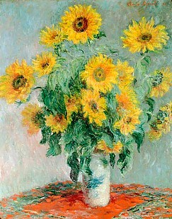 Claude Monet - Bouquet of sunflowers