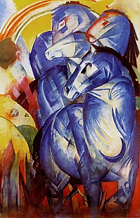 Franz Marc - Tower of the blue horses