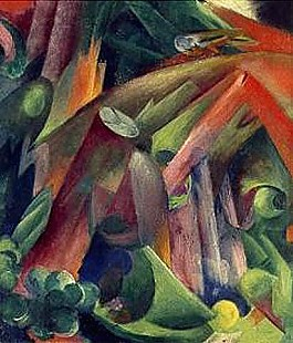Franz Marc - Inside of the wood with birds