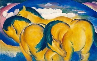 Franz Marc - The little yellow horses.