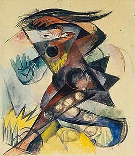 Franz Marc - Caliban. Figurine of Shakespeares Storm