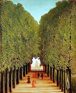 Henri Rousseau - Alleyway in the Park of Saint-Cloud
