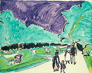 Ernst Ludwig Kirchner - Entrance to a large garden in Dresden