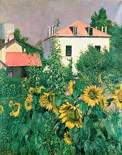 Gustav Caillebotte - Sunflowers in the Garden at Petit Gennevilliers