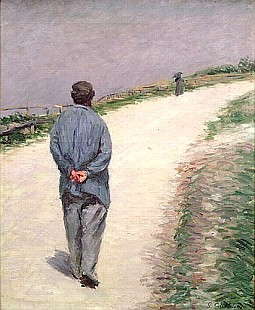 Gustav Caillebotte - Pere Magloire on the Road to Saint-Clair, Etretat