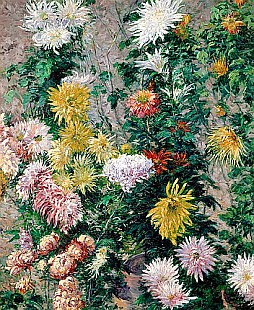 Gustav Caillebotte - White and Yellow Chrysanthemums