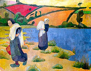 Paul Serusier - Washerwomen at the Laita River