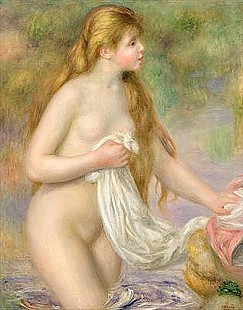 Pierre-Auguste Renoir - Bather with long hair