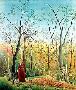 Henri Rousseau - The Walk in the Forest