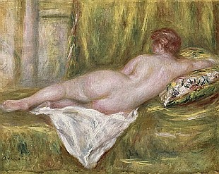 Pierre-Auguste Renoir - Reclining Nude from the Back