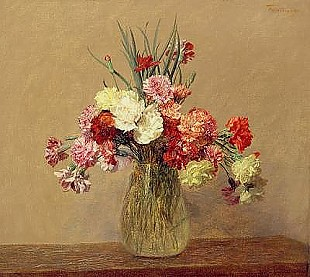 Thédore Fantin-Latour - A Bouquet of Carnations