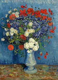 Vincent van Gogh - Still Life: Vase with Cornflowers and Poppies
