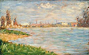 Georges-Pierre Seurat - The River Banks