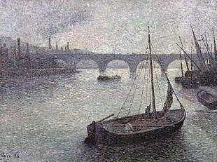 Maximilien Luce - View of the Thames