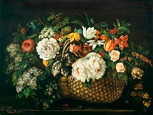 Gustave Courbet - Flowers in a Basket