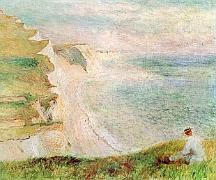 Pierre-Auguste Renoir - Cliffs at Pourville