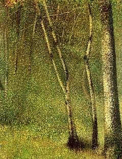Georges-Pierre Seurat - In the Forest at Pontaubert