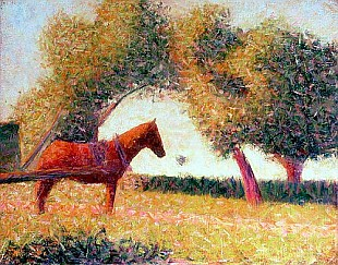 Georges-Pierre Seurat - The Harnessed Horse
