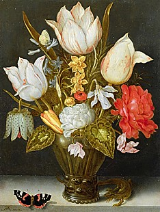 Ambrosius Bosschaert d.Ä. - Still life with flowers