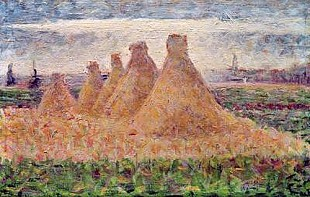 Georges-Pierre Seurat - Straw Stacks