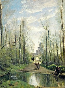 Jean Baptiste Camille Corot - The Church at Marissel
