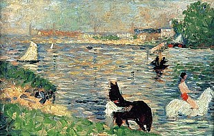 Georges-Pierre Seurat - Horses in a River