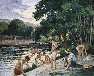 Maximilien Luce - Bathers on the Banks of the Cure