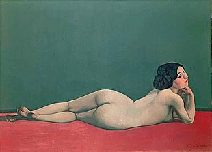 Felix Vallotton - Nude Stretched out on a Piece of Cloth