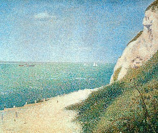 Georges-Pierre Seurat - Beach at Bas Butin, Honfleur