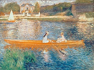 Pierre-Auguste Renoir - Boating on the Seine