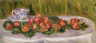Pierre-Auguste Renoir - Still Life of Strawberries and a Tea-cup