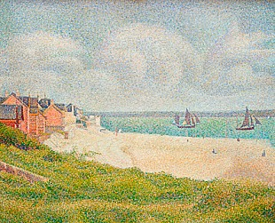 Georges-Pierre Seurat - Le Crotoy looking Upstream