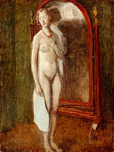Louis Picard - Nude in front of mirror