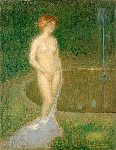 Louis Picard - Female Nude at a lake