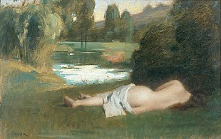 Marie Augustin Zwiller - Resting bather